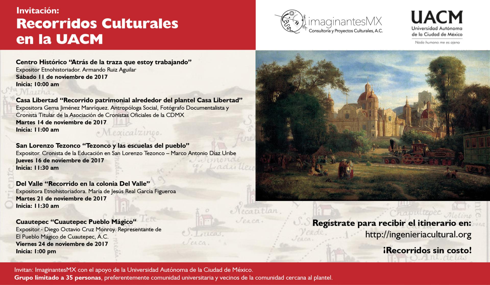 Recorridos Culturales en la UACM